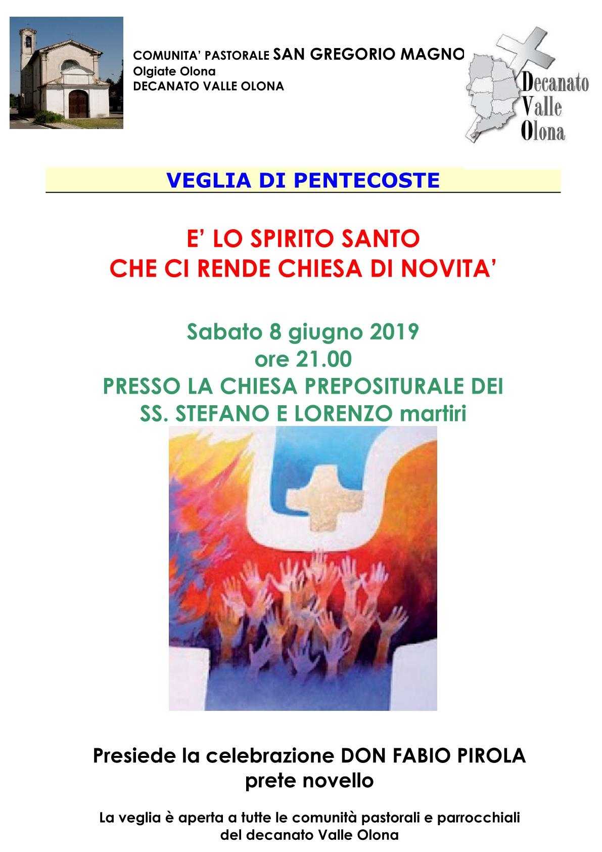 VEGLIA DI PENTECOSTE 20191