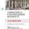 Pellegrinaggio diocesano a Roma per la canonizzazione di papa Paolo VI