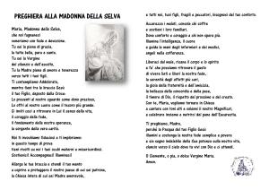 PREGHIERA ALLA MADONNA DELLA SELVA1