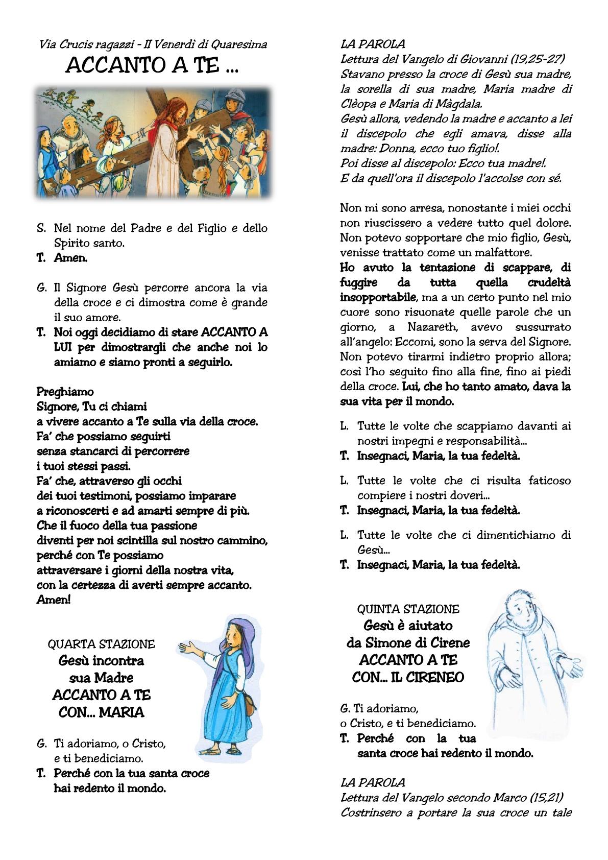 Via Crucis ragazzi II venerdì1
