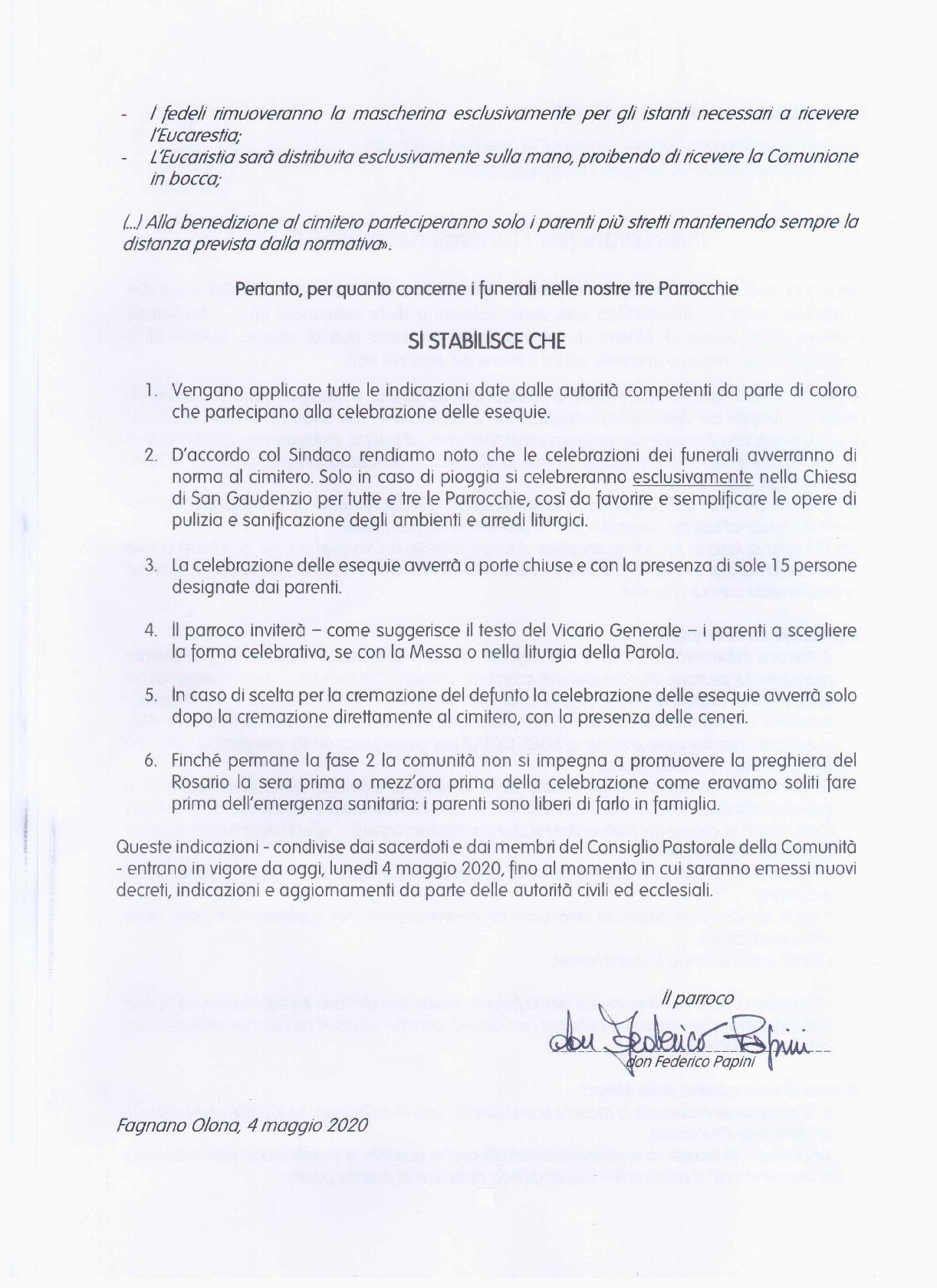 Indicazioni Funerali - fase2 - CP MdS2